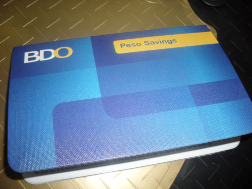BDO Passbook Savings Account