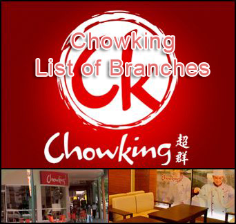 Chowking List of Branches in the Philippines