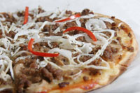 Beef and Mushroom Pizza