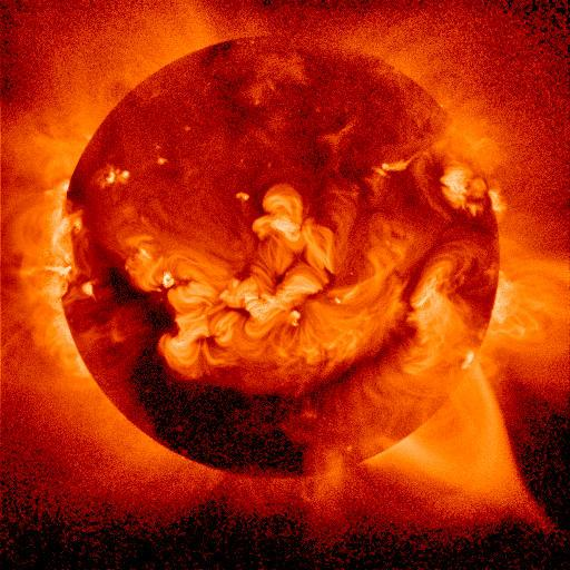 sample picture of a solar storm