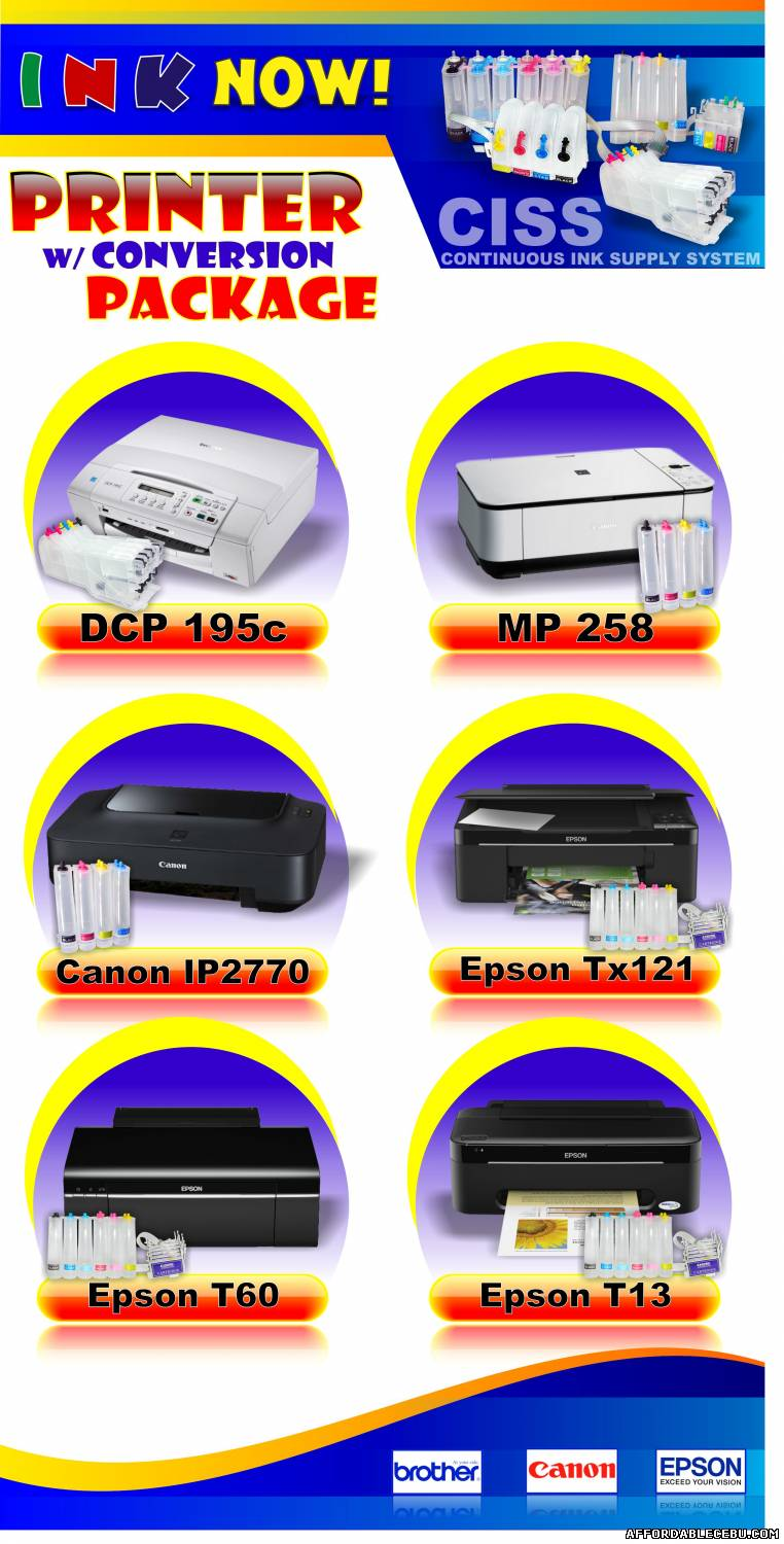 2nd picture of INK NOW! Cebu - Continuous Ink Supply System For Sale or Swap in Cebu, Philippines