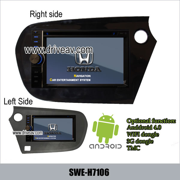 1st picture of Honda Insight & Eu-Version Insight DVD player GPS Android 4.0 wifi 3G SWE-H7106 For Sale in Cebu, Philippines