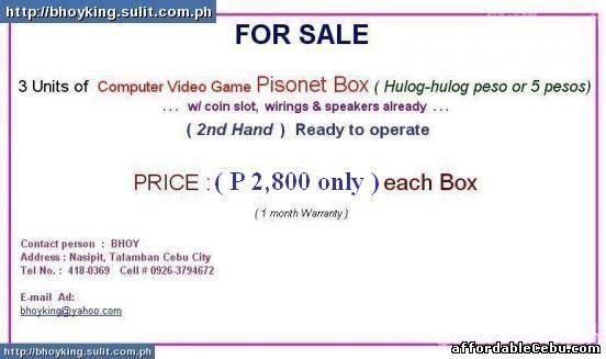 2nd picture of Pisonet Box for hulog-hulog peso For Sale in Cebu, Philippines