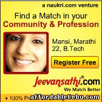 1st picture of ADD FREE MATRIMONIAL PROFILE AT JEEVANSATHI Announcement in Cebu, Philippines
