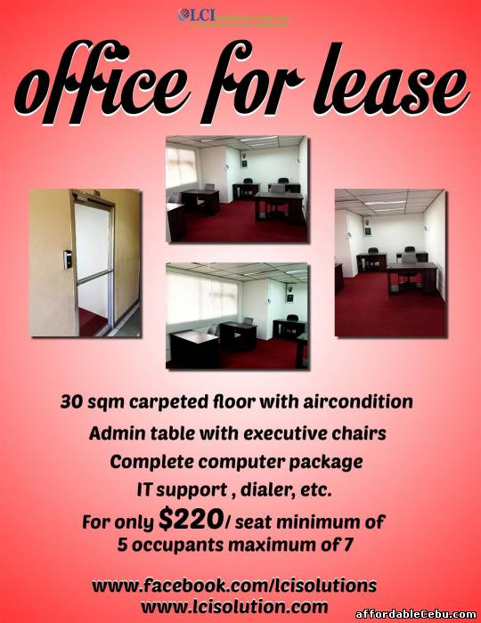1st picture of OFFICE SPACE For Rent in Cebu, Philippines