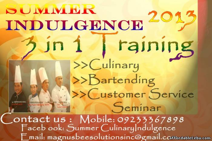 1st picture of SUMMER CULINARY INDULGENCE 2013 Announcement in Cebu, Philippines