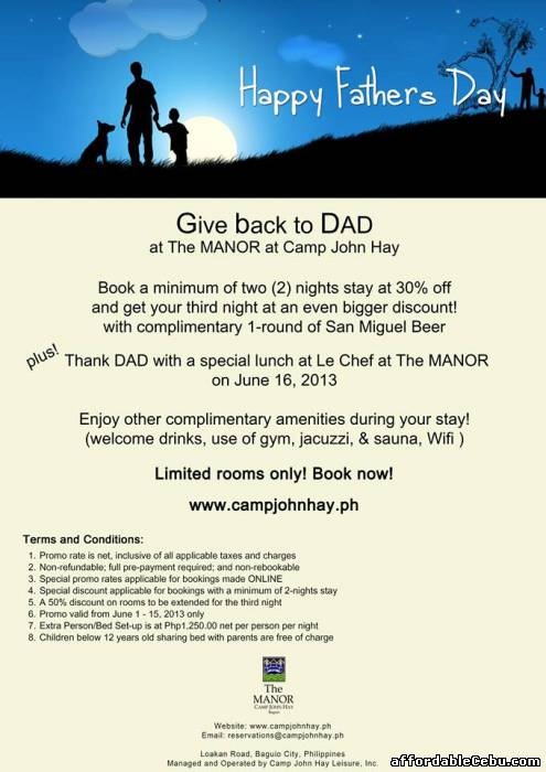 1st picture of The Manor Hotel at Camp John Hay Baguio 0ff-peak rates Discount For Rent in Cebu, Philippines