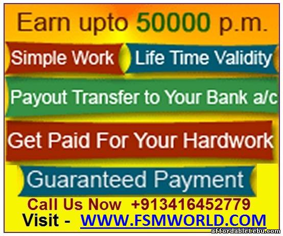 1st picture of WORK FROM HOME, WORK AT HOME OPPORTUNITY, EASY POST DATA ENTRY JOB. VISIT – WWW.FSMWORLD.COM Offer in Cebu, Philippines
