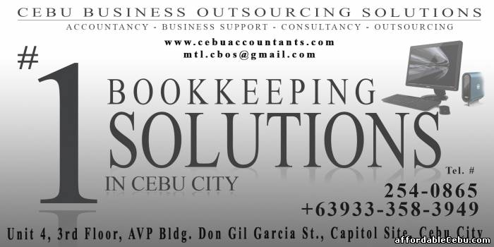 1st picture of Bookkeeping Services in Cebu City for as low as 2,000 per month Offer in Cebu, Philippines
