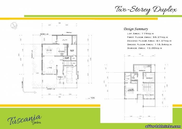 3rd picture of A Beautiful Modern Tuscania Gardens Duplex  house and Lot 4 sale in Guadalupe Cebu City For Sale in Cebu, Philippines