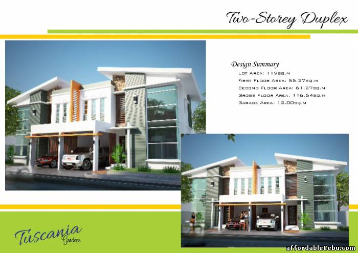 A beautiful modern tuscania gardens duplex house and lot 4 for Duplex house design in philippines