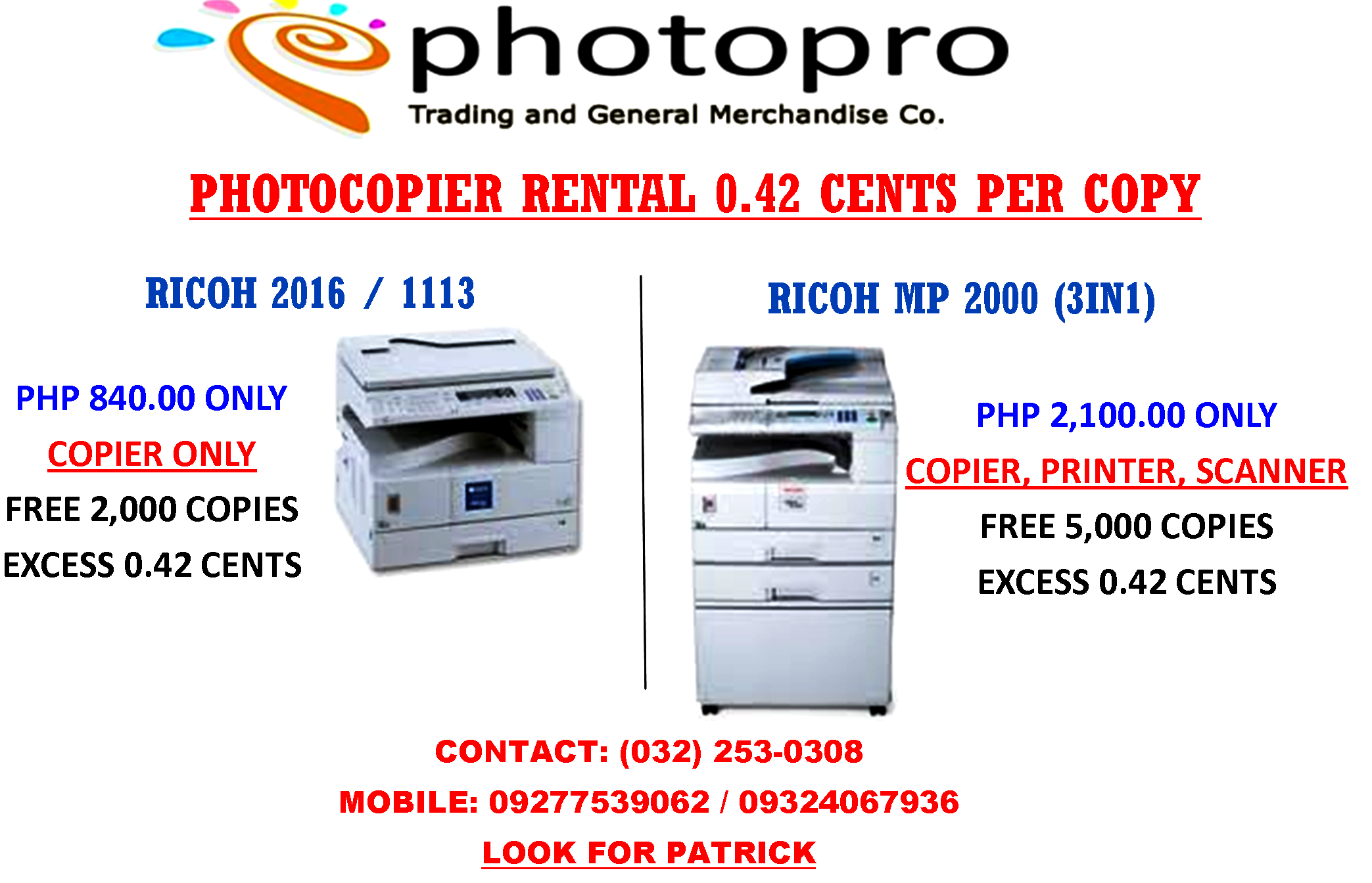 Xerox Machine For Rent in Cebu Areas - Others Cebu City Philippines - 30483