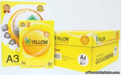 1st picture of IK Yellow A4 Copy Paper 80gsm/75gsm/70gsm For Sale in Cebu, Philippines