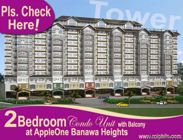 1st picture of Affordable 2BR Condo w/ Balcony (52.2 sq.m.), TOWER at AppleOne Banawa Heights For Sale in Cebu, Philippines