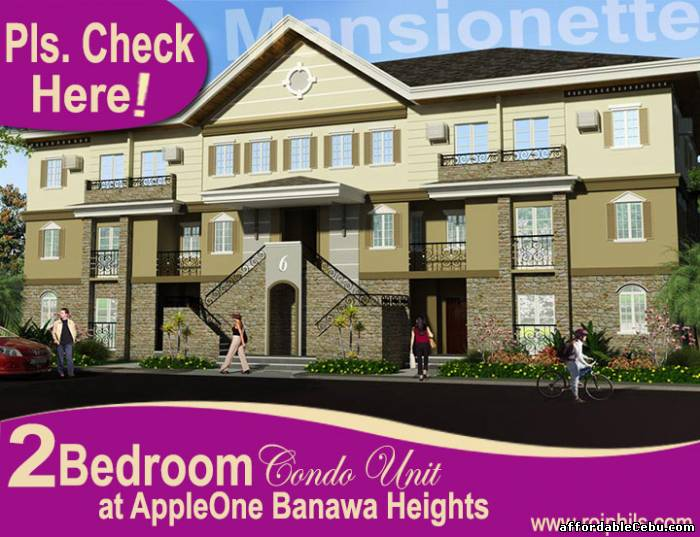 1st picture of Affordable 2BR Condo Unit (38 sq.m.), MANSIONETTE at AppleOne Banawa Heights For Sale in Cebu, Philippines