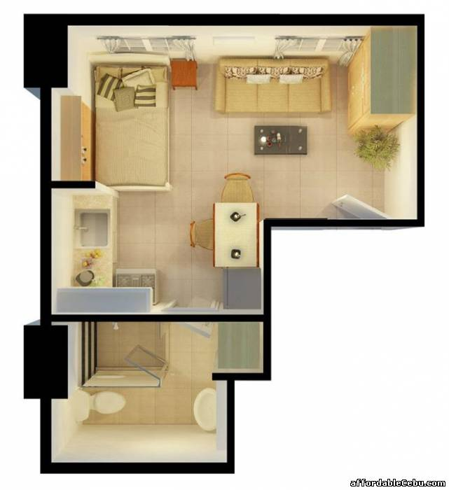 5th picture of Affordable Studio Type Unit (24sq.m.), TOWER at AppleOne Banawa Heights For Sale in Cebu, Philippines