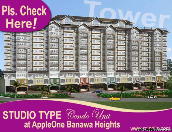 1st picture of Affordable Studio Type Unit (24sq.m.), TOWER at AppleOne Banawa Heights For Sale in Cebu, Philippines