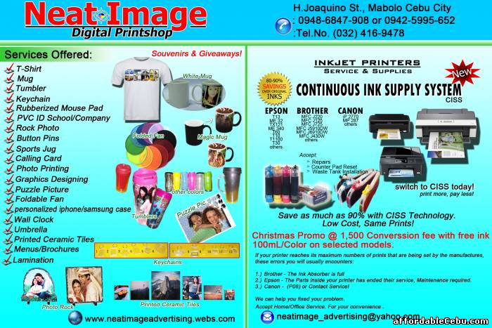 1st picture of Printer Repair and CISS Offer in Cebu, Philippines