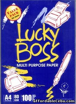1st picture of Lucky boss A4 copy paper 80gsm/75gsm/70gsm For Sale in Cebu, Philippines