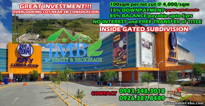 1st picture of for sale lot in consolacion installment 4k per sqm atleast 100sqm For Sale in Cebu, Philippines