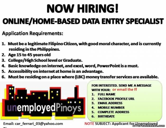 1st picture of Stay at home while you Earn, Online Work Looking For in Cebu, Philippines