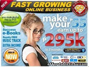 "1st picture of Start your business for only ""55 pesos"" Announcement in Cebu, Philippines"