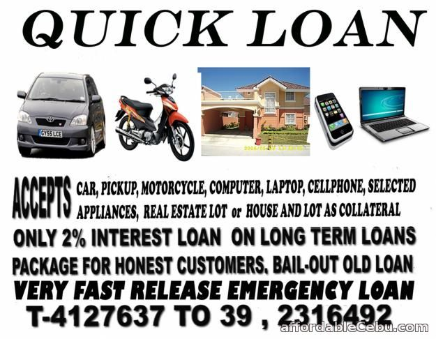 1st picture of QUICK LOAN FAST RELEASE (09224232173 Sun) Offer in Cebu, Philippines