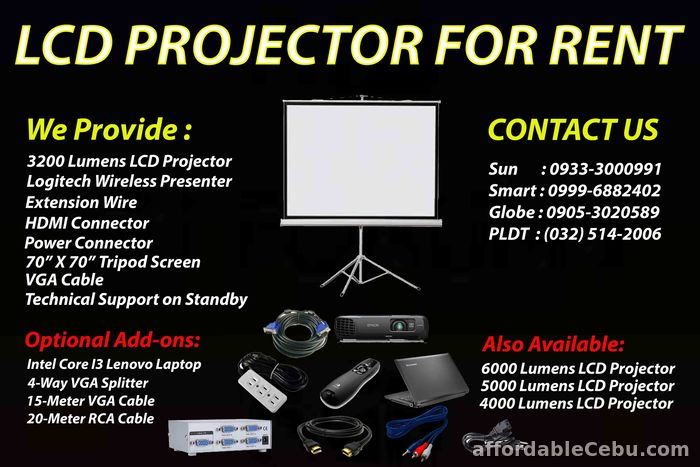 1st picture of CEBU PROJECTOR FOR RENT For Rent in Cebu, Philippines