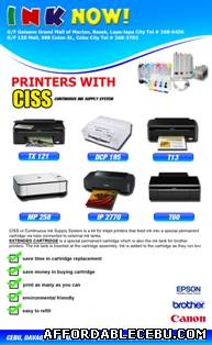 1st picture of Continuous Ink Supply System with Service Warranty For Sale in Cebu, Philippines