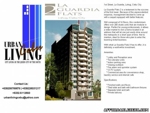 5th picture of Affordable Luxury: La Guardia Flats 2 @ Lahug, Cebu City For Sale in Cebu, Philippines