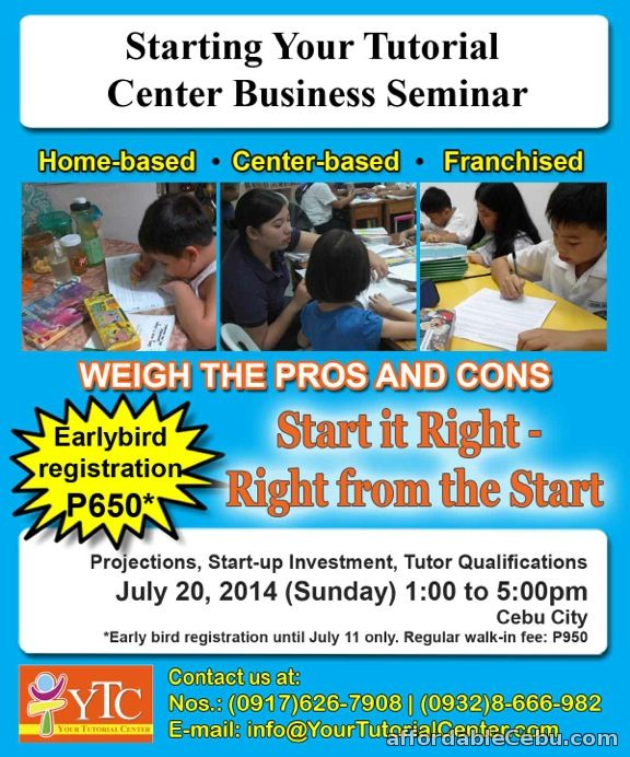Starting Your Tutorial Center Business Seminar Announcement Cebu City ...