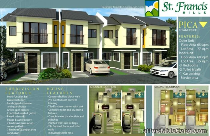 2nd picture of St. Francis Hills, House & Lot, Townhouse, Tolotolo, Consolacion, Cebu For Sale in Cebu, Philippines