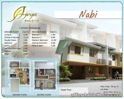 1st picture of 2 Storey Townhouse with 4 Br at Cordova Cebu 09324592312 For Sale in Cebu, Philippines
