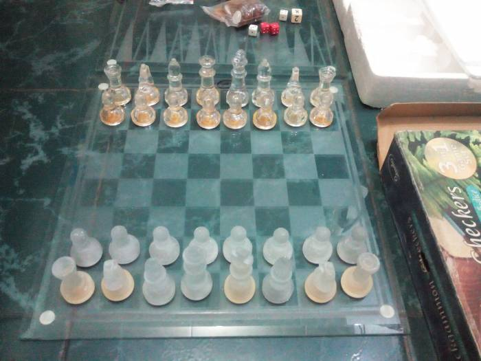 4th picture of Glass Chess Backgammon and Checkers 3 in 1 board set For Sale in Cebu, Philippines