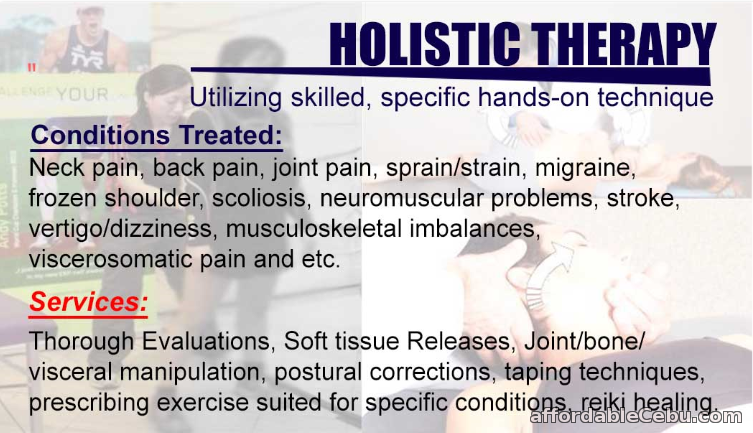 1st picture of Holistic Physical Therapy and Osteopathic Care Offer in Cebu, Philippines