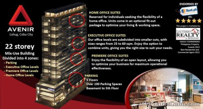 1st picture of CONDO OFFICE FOR SALE NEAR AYALA AND CEBU IT PARK AVENIR PRIME For Sale in Cebu, Philippines