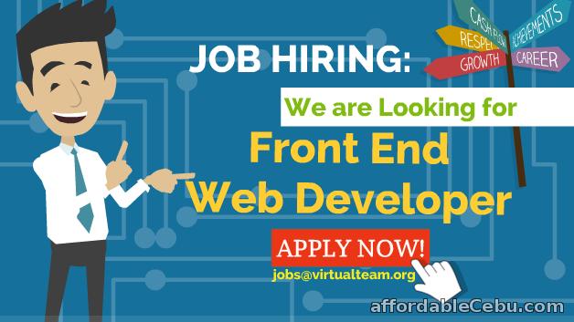 1st picture of Job Hiring:  Front End Web Developer (Homebased) Offer in Cebu, Philippines