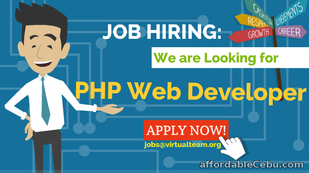 1st picture of Job Hiring:  PHP Web Developer (Homebased) Looking For in Cebu, Philippines