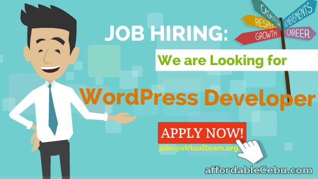 1st picture of Job Hiring:  Wordpress Developer (Homebased) Looking For in Cebu, Philippines