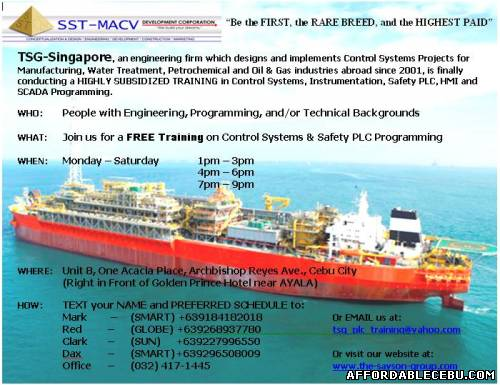 1st picture of PLC Training Offer in Cebu, Philippines