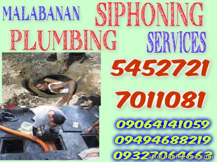 1st picture of RTJ MALABANAN SIPHONING PLUMBING SERVICES 7011081/09064141059 Offer in Cebu, Philippines