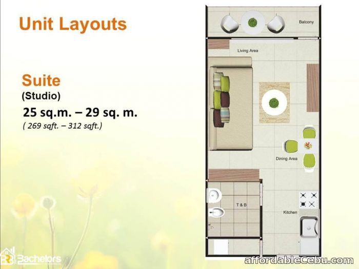 2nd picture of Condominium for sale in Cebu City STUDIO UNIT For Sale in Cebu, Philippines
