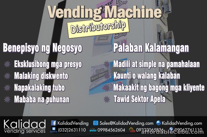 Vending Machine Distributorships - Available Nationwide - Distributors  Outside Cebu Philippines - 50542