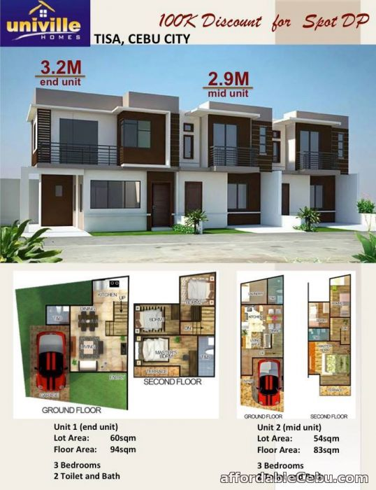 3rd picture of UNIVILLE HOMES - Tisa, Labangon, Cebu City - 2.9M For Sale in Cebu, Philippines