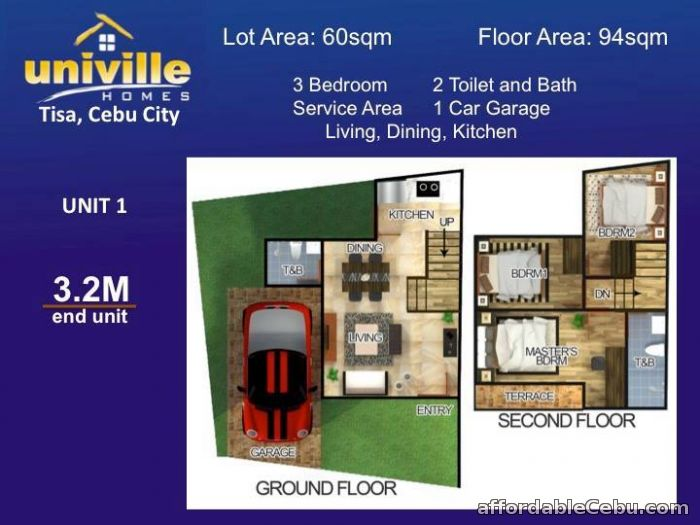 2nd picture of UNIVILLE HOMES - Tisa, Labangon, Cebu City - 2.9M For Sale in Cebu, Philippines