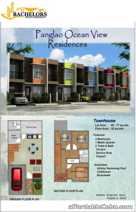 2nd picture of Panglao Ocean View TOWNHOUSE For Sale in Cebu, Philippines