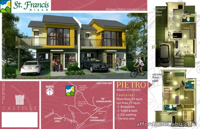 1st picture of Single Attached House and Lot for Sale in Consolacion for only 3M For Sale in Cebu, Philippines