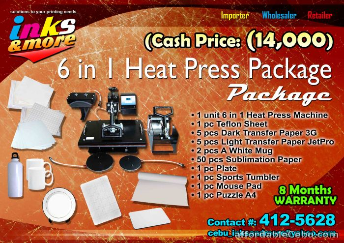 6 in 1 Heatpress Machine 6in1 heat press machine package BAGSAK PRESYO -  Office & Biz Cebu City Philippines - 51035