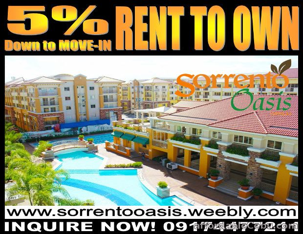 1st picture of Sorrento Oasis Rent to Own Condo in Pasig near Ortigas Center For Sale in Cebu, Philippines