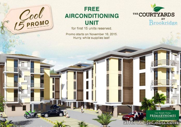 1st picture of The Courtyards @ Brookridge: 1 or 2 Bedroom Unit. For Sale in Cebu, Philippines